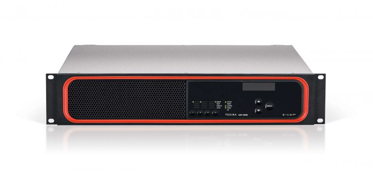 tesira amplifier 4350r front